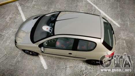 Peugeot 206 XS 1999 para GTA 4 visión correcta