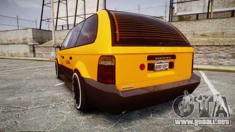 Schyster Cabby Taxi para GTA 4 Vista posterior izquierda