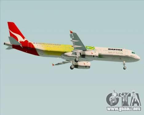 Airbus A321-200 Qantas (Socceroos Livery) para la visión correcta GTA San Andreas