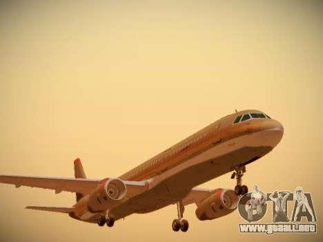 Airbus A321-232 Royal Jordanian Airlines para GTA San Andreas left