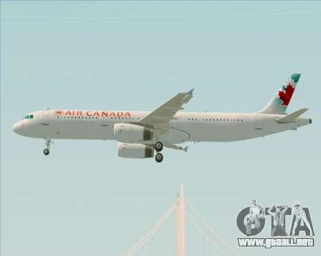 Airbus A321-200 Air Canada para visión interna GTA San Andreas