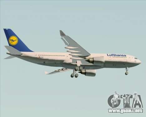 Airbus A330-200 Lufthansa para la visión correcta GTA San Andreas