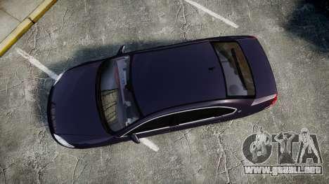 Chevrolet Impala 2010 Undercover [ELS] para GTA 4 visión correcta