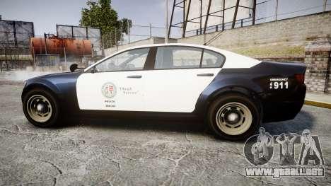 GTA V Cheval Fugitive LS Police [ELS] Slicktop para GTA 4 left