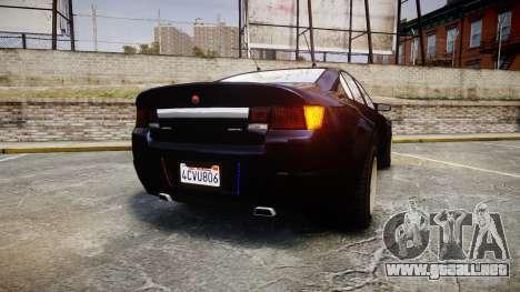 GTA V Cheval Fugitive Unmarked [ELS] Slicktop para GTA 4 Vista posterior izquierda