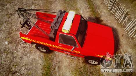 Declasse Rancher Towtruck [ELS] para GTA 4 visión correcta
