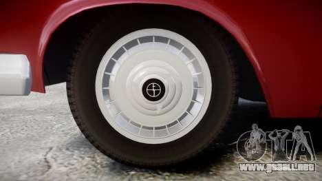 FSO Warszawa Ghia Kombi 1959 para GTA 4 vista hacia atrás