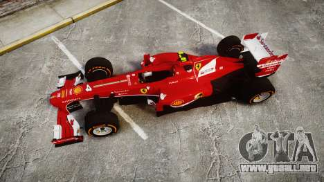 Ferrari F138 v2.0 [RIV] Massa THD para GTA 4 visión correcta