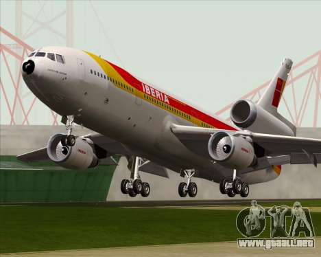 McDonnell Douglas DC-10-30 Iberia para visión interna GTA San Andreas