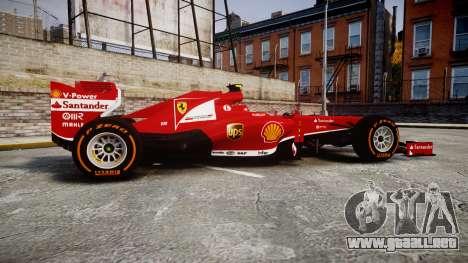 Ferrari F138 v2.0 [RIV] Massa THD para GTA 4 left