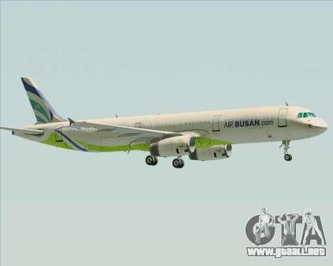 Airbus A321-200 Air Busan para vista inferior GTA San Andreas