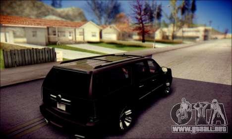 Cadillac Escalade Ninja para vista inferior GTA San Andreas