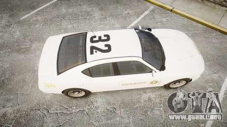 GTA V Bravado Buffalo LS Sheriff White [ELS] Sli para GTA 4 visión correcta