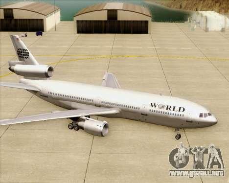 McDonnell Douglas DC-10-30 World Airways para las ruedas de GTA San Andreas