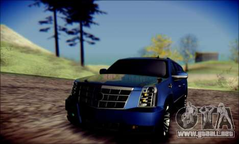 Cadillac Escalade Ninja para la vista superior GTA San Andreas