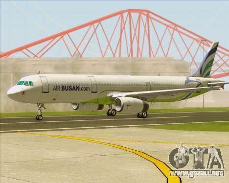 Airbus A321-200 Air Busan para vista lateral GTA San Andreas