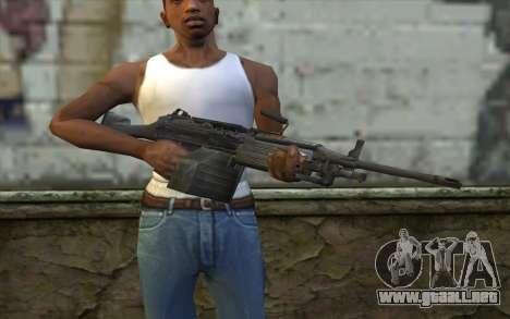 FN M249E2 SAW from SoF: Payback para GTA San Andreas tercera pantalla