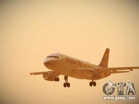 Airbus A319-132 Spirit Airlines para GTA San Andreas