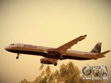 Airbus A321-232 jetBlue La vie en Blue para el motor de GTA San Andreas