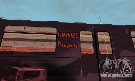 Metrophage tipo 81-717 para GTA San Andreas vista hacia atrás