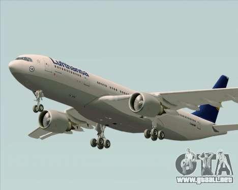Airbus A330-200 Lufthansa para visión interna GTA San Andreas
