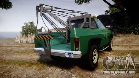 Declasse Rancher Towtruck [ELS] para GTA 4 Vista posterior izquierda