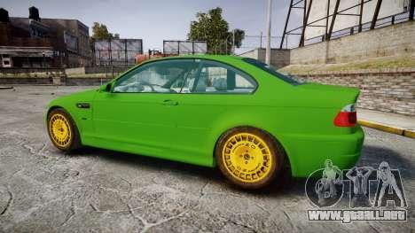 BMW M3 E46 2001 Tuned Wheel Gold para GTA 4 left