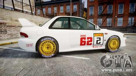 Subaru Impreza WRC 1998 SA Competio para GTA 4 left