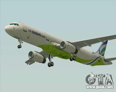Airbus A321-200 Air Busan para GTA San Andreas vista hacia atrás