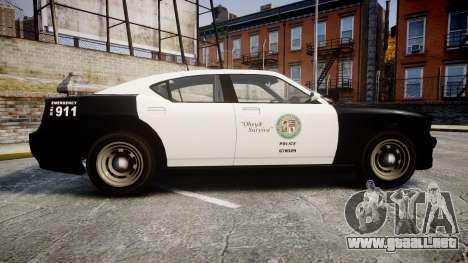 GTA V Bravado Buffalo LS Police [ELS] Slicktop para GTA 4 left