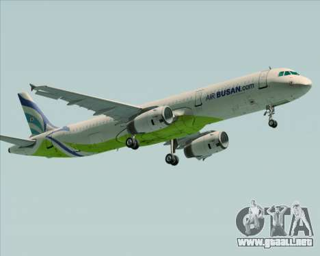 Airbus A321-200 Air Busan para GTA San Andreas left