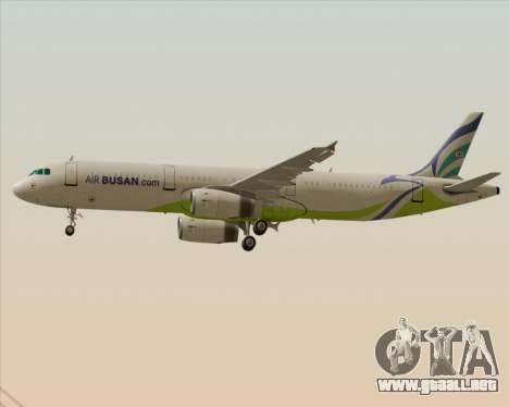 Airbus A321-200 Air Busan para las ruedas de GTA San Andreas