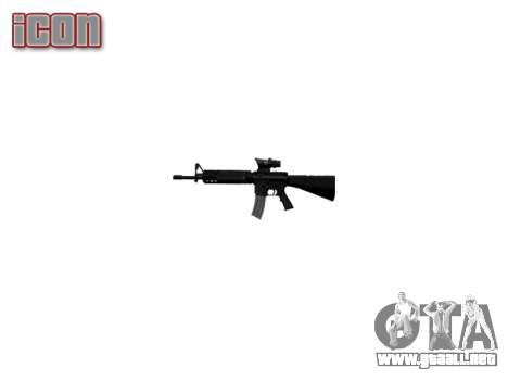 Rifle de M16A4 ACOG destino para GTA 4 adelante de pantalla