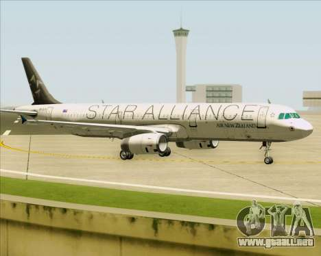 Airbus A321-200 Air New Zealand (Star Alliance) para GTA San Andreas left