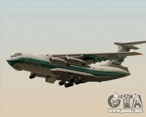 IL-76TD ALROSA para GTA San Andreas vista posterior izquierda