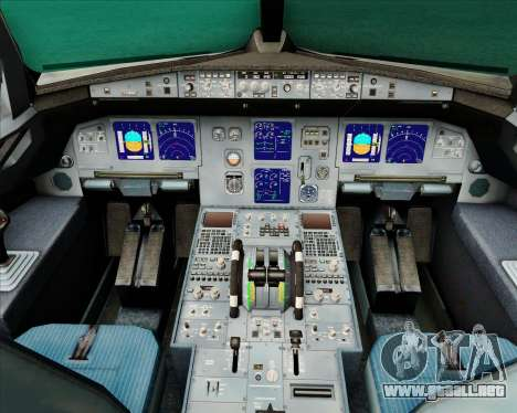 Airbus A321-200 Air New Zealand (Star Alliance) para GTA San Andreas interior