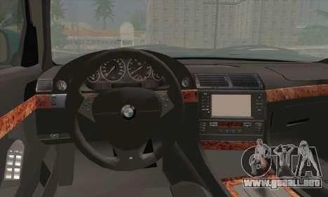 BMW 7-series para GTA San Andreas vista posterior izquierda