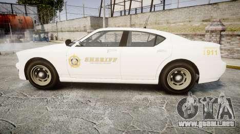 GTA V Bravado Buffalo LS Sheriff White [ELS] Sli para GTA 4 left