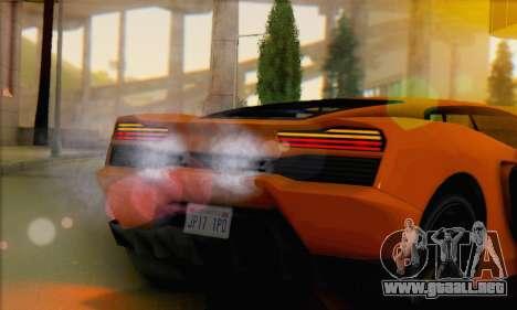 Pegassi Vacca (IVF) para GTA San Andreas vista posterior izquierda
