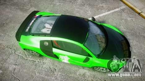 Audi R8 GT Coupe 2011 Yoshino para GTA 4 visión correcta