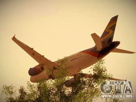 Airbus A319-132 Spirit Airlines para GTA San Andreas vista hacia atrás