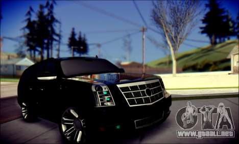 Cadillac Escalade Ninja para GTA San Andreas interior
