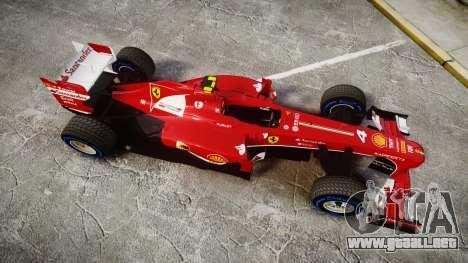 Ferrari F138 v2.0 [RIV] Massa TFW para GTA 4 visión correcta