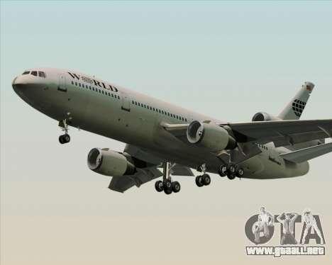 McDonnell Douglas DC-10-30 World Airways para la visión correcta GTA San Andreas