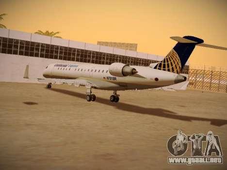 Bombardier CRJ-700 Continental Express para visión interna GTA San Andreas