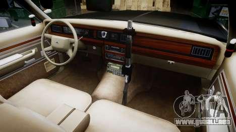 Ford LTD Crown Victoria 1987 Police CHP2 [ELS] para GTA 4 vista hacia atrás