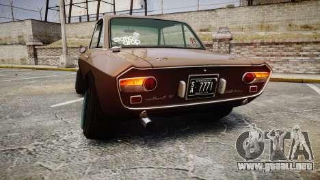 Lancia Fulvia HF (Camber) para GTA 4 Vista posterior izquierda