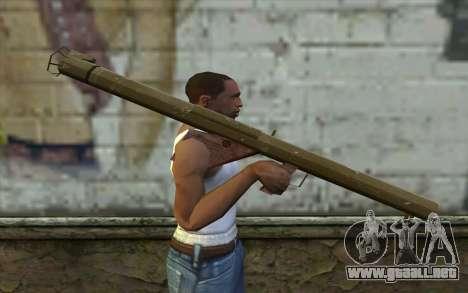Bazooka M1 desde el Día de la Derrota para GTA San Andreas tercera pantalla