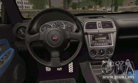 Subaru Impreza para GTA San Andreas vista posterior izquierda