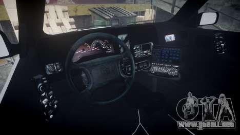 Dodge Durango 2000 Undercover [ELS] para GTA 4 vista hacia atrás